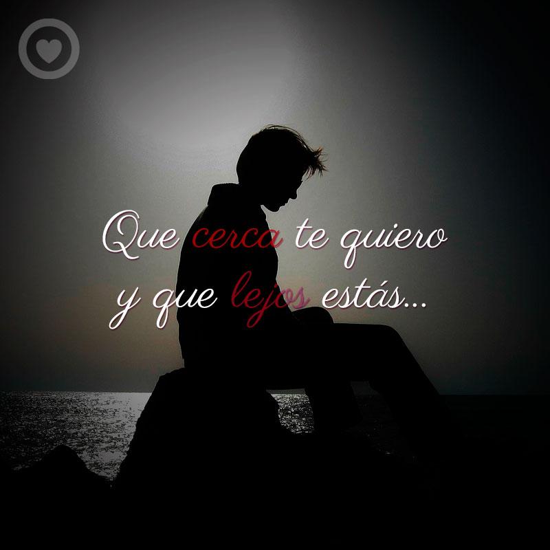 Imagen De Hombre Triste Con Frase De Amor A Distancia