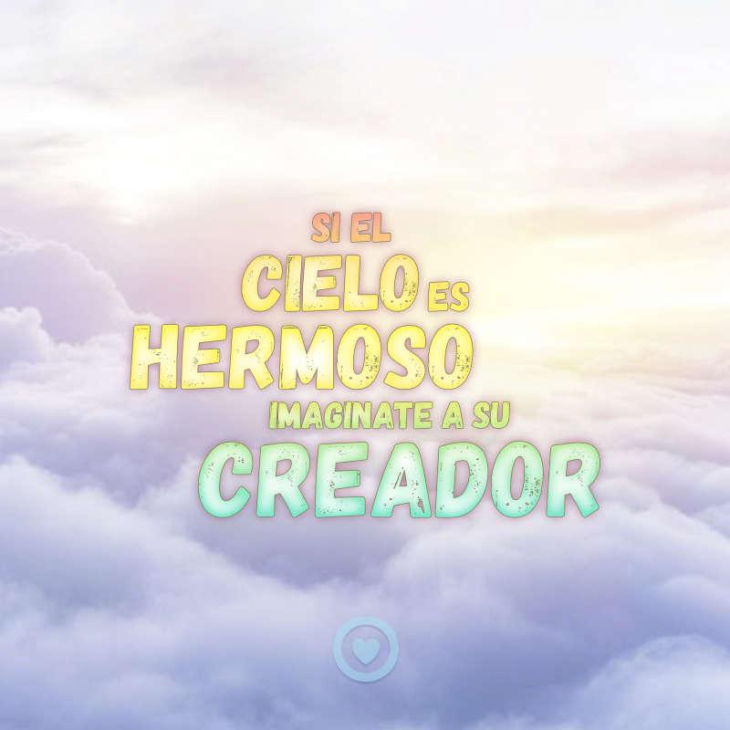 Imagen sobre el cielo y el creador